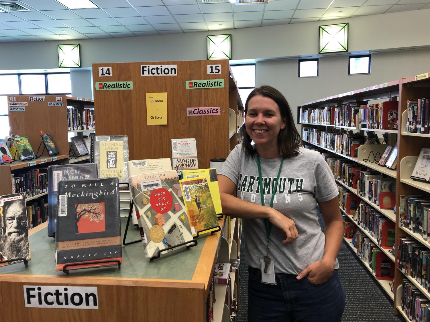 New librarian Emily Goodwin is introducing many changes to the library.