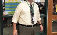 New Assistant Principal Richard Gill in action at the LMC entrance.