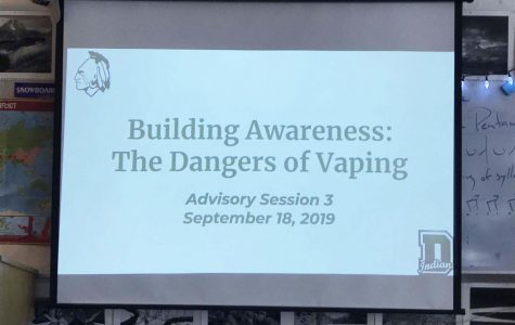 The slide presentation about vaping took place on September 18.