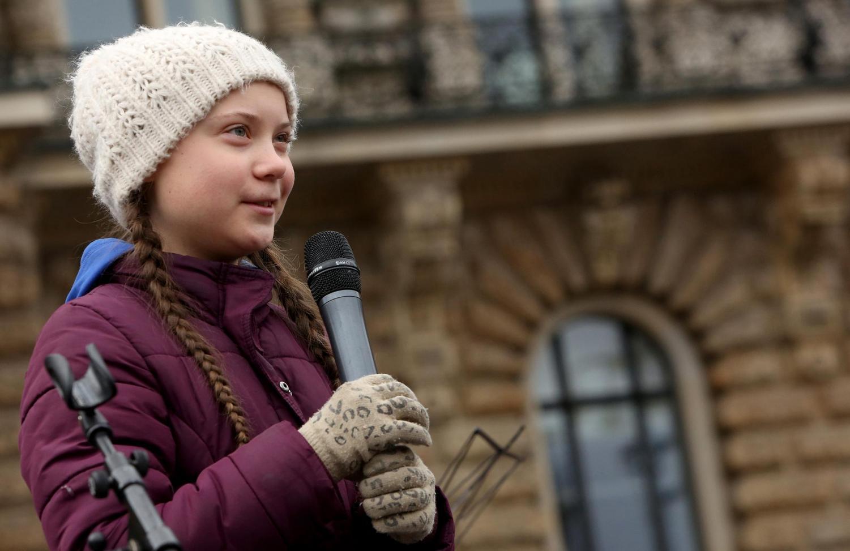 Greta Thunberg speaks with authority.