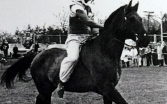 This image was scanned from the 1964 DHS Yearbook. The rider's identity is unknown.