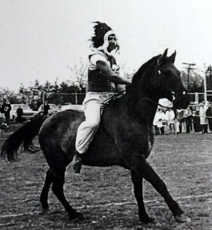 This+image+was+scanned+from+the+1964+DHS+Yearbook.+The+rider%27s+identity+is+unknown.